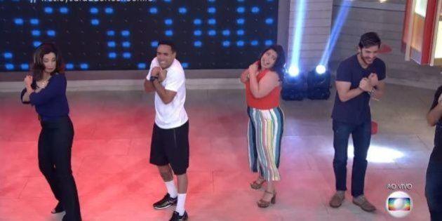 'Encontro': Fátima Bernardes dança Wesley Safadão no programa