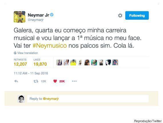 Carreira musical de Neymar na verdade é ação de marketing da