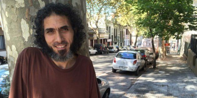 MONTEVIDEO, URUGUAY--March 16, 2015: Jihad Ahmed Mustafa Dhiab, 43, outside his new home in