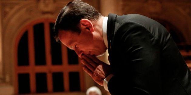 SAO PAULO, BRAZIL - DECEMBER 19: Elected Mayor of Sao Paulo Joao Doria Jr. (PSDB) gestures during the...