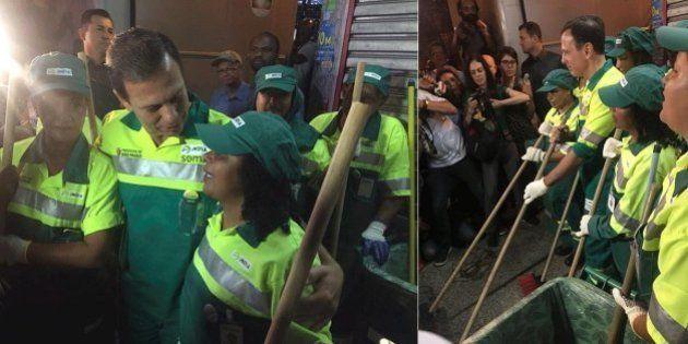 De gari, Doria lança programa de limpeza de São Paulo: 'Primeira faxina de