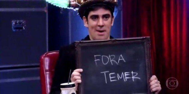 Marcelo Adnet escreve 'fora Temer' no 'Adnight' e internet vai à