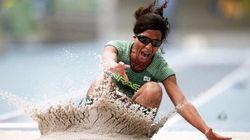 É ouro e bronze no pódio: Brasileiras fazem dobradinha no salto em