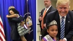 Entre Donald Trump e Barack Obama, esta menina definitivamente escolheu