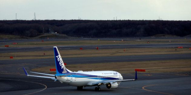 An airplane of Skymark Airlines, a low-cost airline operating scheduled passenger services within Japan,...