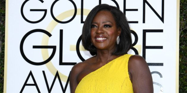 BEVERLY HILLS, CA - JANUARY 08: 74th ANNUAL GOLDEN GLOBE AWARDS -- Pictured: Actress/producer Viola Davis...