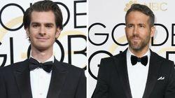 Andrew Garfield e Ryan Reynolds se beijaram no Globo de Ouro e você não