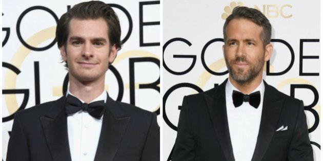 Globo de Ouro 2017: Andrew Garfield e Ryan Reynolds se beijaram na plateia e você não