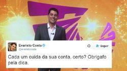 Parece que Evaristo Costa transformou seu Twitter em uma briga de 5ª