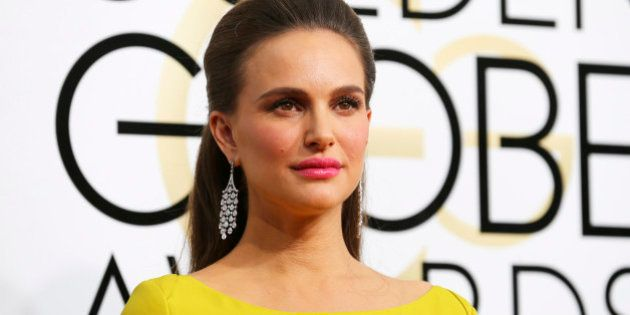 Actress Natalie Portman arrives at the 74th Annual Golden Globe Awards in Beverly Hills, California,...