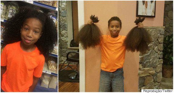 Exemplo de empatia! Este garoto deixou seu cabelo crescer para doar a quem tem