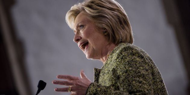 Democratic presidential nominee Hillary Clinton speaks at Temple University on September 19, 2016 in...