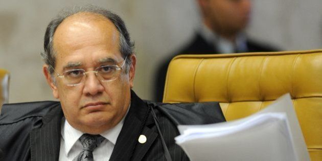 Brazilian Supreme Court Minister Gilmar Mendes during the session on the case of Italian Cesare Battisti...