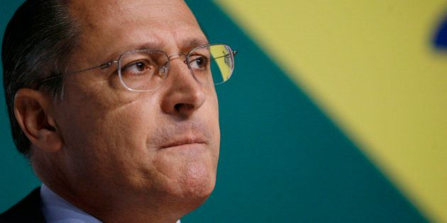 Brazil's presidential candidate Geraldo Alckmin, of the Social Democratic Party (PSDB), speaks during...