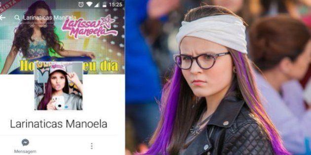 3ffddca0e1f83 Perfil falso de fã clube da Larissa Manoela é usado pra pedofilia ...
