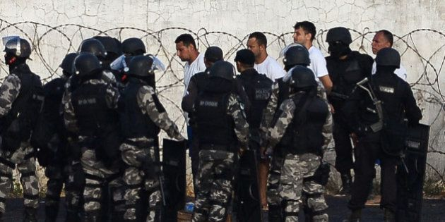 The leaders of the riot are transferred after a negotiation with the police at the Alcacuz Penitentiary,...