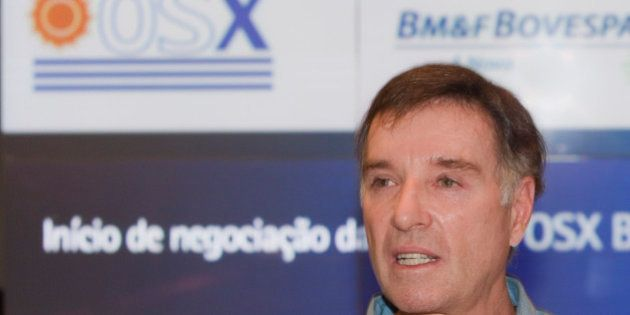 Brazilian billionaire Eike Batista speaks at the Sao Paulo Stock Exchange (BM&FBovespa SA) in Sao Paulo,...