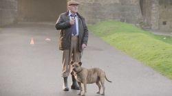 A cadela 'mais solitária da Grã-Bretanha' atua com Anthony Hopkins em
