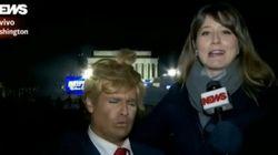 Repórter da GloboNews entrevista Vesgo, do Pânico, pensando que ele é