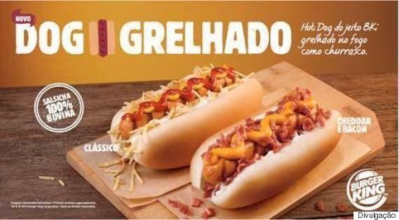 Burger King inclui linha de cachorro-quente grelhado no menu
