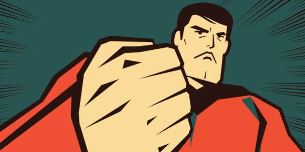 Vector illustration – Superhero with Fist