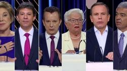 Subindo nas pesquisas e acusado de invadir terreno, Doria foi principal alvo dos candidatos no debate do