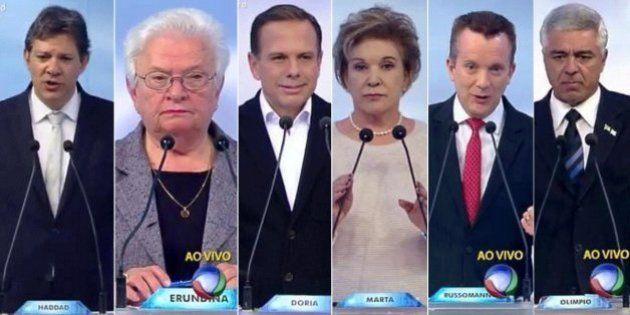 A menos de uma semana da eleição, candidatos de SP elevam o tom e partem para o ataque no debate da