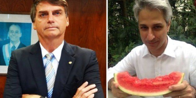 Jair Bolsonaro xinga Alessandro Molon em intervalo de debate na