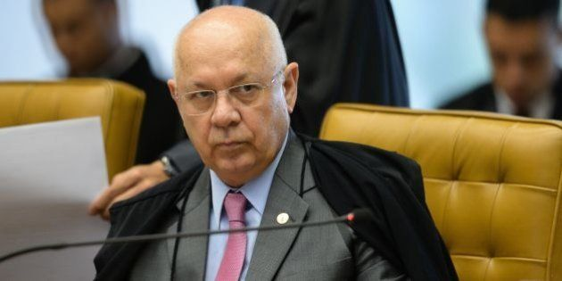 Brazil's Supreme Federal Court (STF) Minister Teori Zavascki is depicted during the March 31, 2016 session...