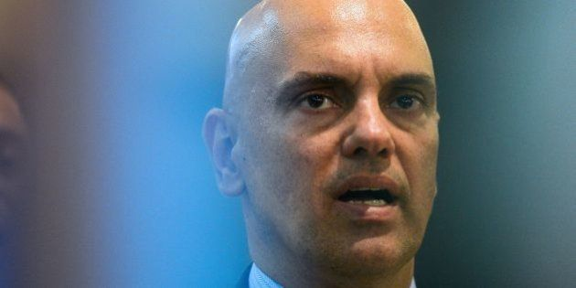 Brazilian Justice Minister Alexandre de Moraes speaks during the inauguratioon ceremony of International...