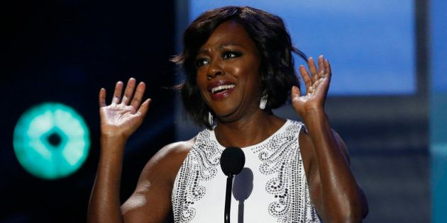 Presenter Viola Davis takes the stage at the 47th NAACP Image Awards in Pasadena, California February...