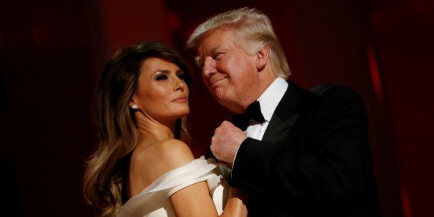U.S. President Donald Trump and first lady Melania Trump attend the Liberty Ball in honor of his inauguration...