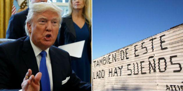 O muro vira realidade: Trump assina decreto para erguer barreira com o