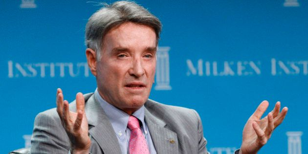 Eike Batista, Chairman and CEO of EBX Group speaks at a dinner panel discussion at the Milken Institute...