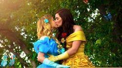 Em uma cerimônia da vida real, a Bela se casou com a Cinderela. E foi