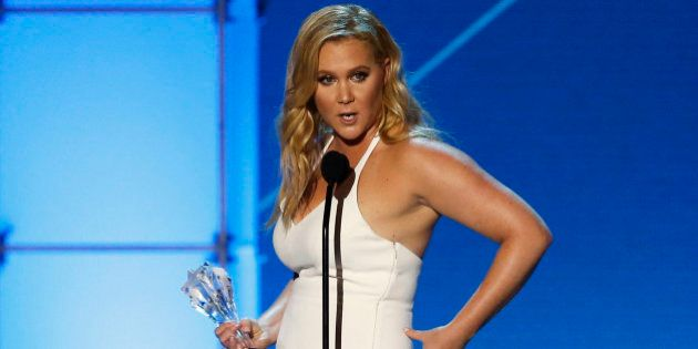 Amy Schumer accepts the award for Most Valuable Person in Film and TV during the 21st Annual Critics'...