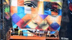 Novo mural de Kobra é uma linda homenagem a Anne