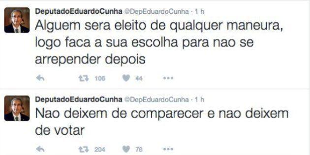 Mesmo cassado, Eduardo Cunha vota no primeiro turno, no