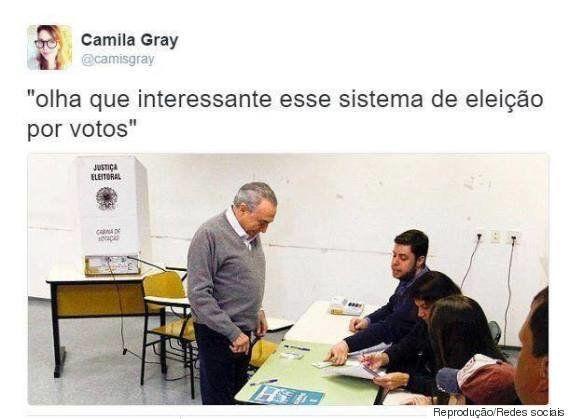 O grande meme do dia foi Michel Temer votando em São