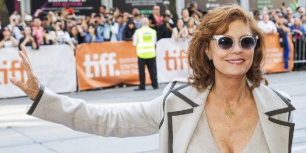 Actress Susan Sarandon arrives on the red carpet for the