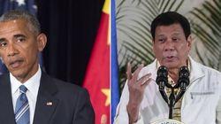 Alô, diplomacia: Líder filipino manda Obama para o