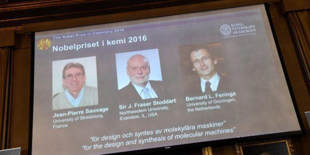 Nobel de Química premia trio de 'máquinas