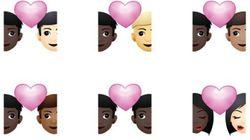 App lança emojis de casais interraciais para celebrar todas as formas de