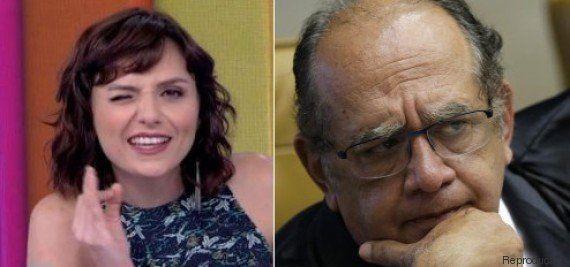 Gilmar Mendes diz que vai doar R$ 30 mil de indenização de Monica Iozzi para