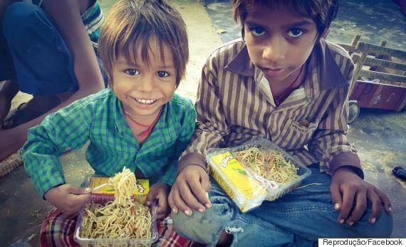 Nada de sobras: Food truck na Índia doa refeições frescas para os