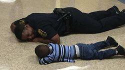 Este policial acalmou uma criança chorando do jeito mais