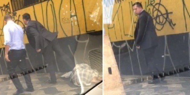 Vídeo de homem agredindo morador de rua viraliza e revolta