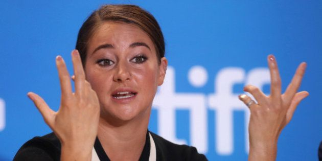 Actress Shailene Woodley attends a press conference to promote the