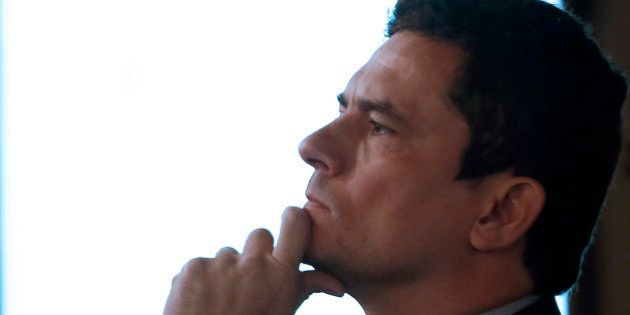 Brazilian judge Sergio Moro attends the 5th National Federal Criminal Judges Forum where he gives a lecture...