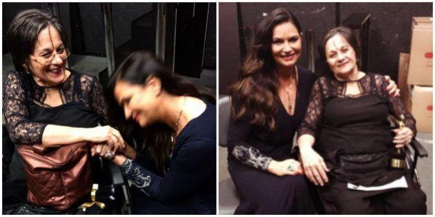 Luiza Brunet se emociona em encontro com Maria da Penha: 'Exemplo para todas